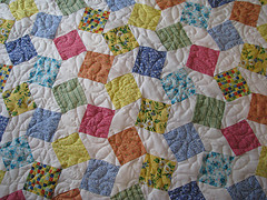 A quilt has hundreds of seems and edges pieced together for a single beautiful pattern