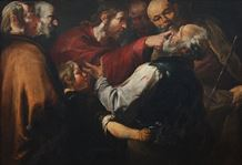Christ Healing the Blind Man c. 1640 - Gioacchino Assereto (1600–1649)