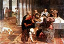 Jesus at the House of the Pharisees - Tintoretto (1518–1594)