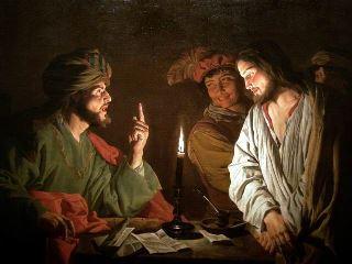 Christ before Caiaphas - ca. 1630 - Matthias Stom (fl. 1615–1649)