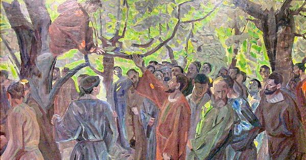 Zacchaeus (Kristus og Zakæus) - 1913 - Niels Larsen Stevns 1864-1941