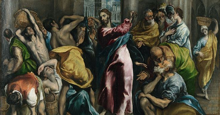 Christ driving the Traders from the Temple - ~1600 - El Greco (1541–1614)