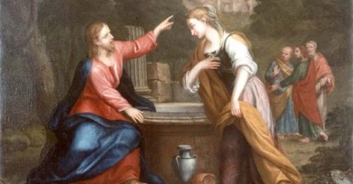 Giacomo Franceschini - Gesù e la Samaritana al pozzo - 17th or 18th century