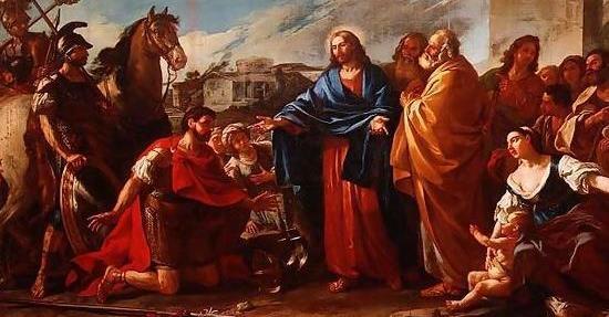 Healing the son of a royal official - 1752 -  Joseph-Marie Vien (1716 - 1809 )