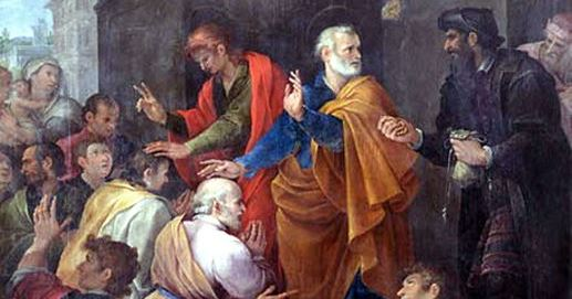 Peter Confronts Simon - 1620 - Avanzino Nucci