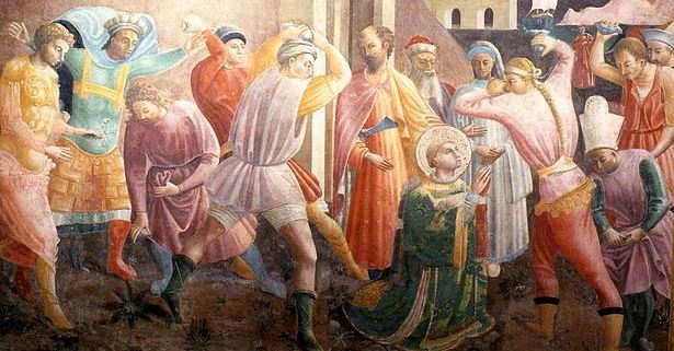 Stoning of St Stephen - ~1435 - Paolo Uccello (1397–1475)