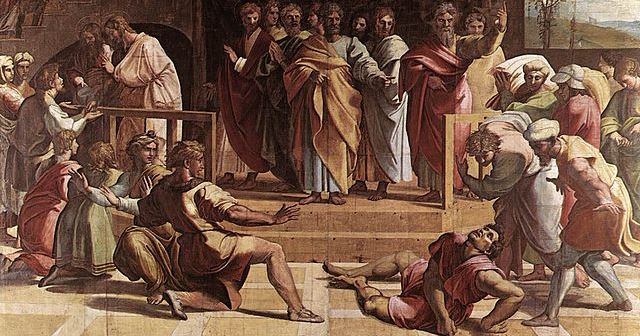 The Death of Ananias - 1515 - Raphael (1483–1520)