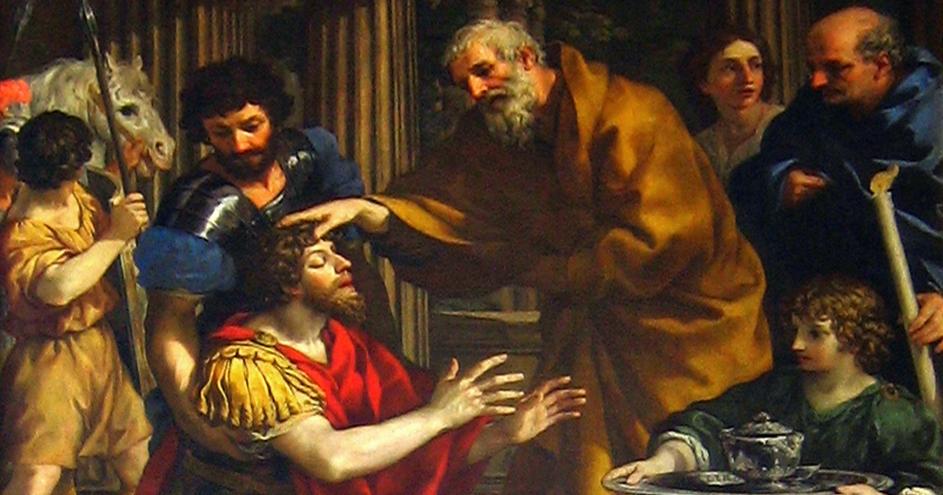 Ananias Restoring Paul's Sight - 1631 - Pietro da Cortona