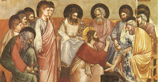 Washing of Feet - Giotto di Bondone (1267-1337)